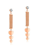 cheap -Women's Tassel / Stylish Hoop Earrings - Rose Gold, Rose Gold Plated Rose Gold For Wedding / Daily