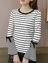 cheap -Women's Long Sleeve Pullover - Striped