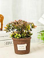 Недорогие -Искусственные Цветы 1 Филиал С узором Винтаж / Пастораль Стиль Pастений Букеты на стол