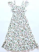 abordables -Niños Chica Floral Manga Corta Vestido