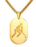 Недорогие -Муж. Стильные Ожерелья с подвесками - Нержавеющая сталь Креатив модный, Мода Золотой, Серебряный 55 cm Ожерелье 1шт Назначение Подарок, Повседневные