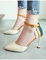 baratos -Mulheres Sapatos Confortáveis Couro Ecológico Primavera Saltos Salto Agulha Preto / Bege