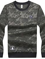 cheap -men's sports long sleeve sweatshirt - camouflage round neck