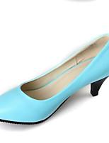 Недорогие -Жен. Обувь Полиуретан Весна Туфли лодочки Обувь на каблуках На шпильке Черный / Бежевый / Синий