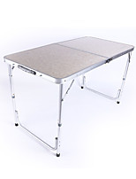 cheap -BEAR SYMBOL Camping Table Outdoor Folding Aluminium alloy for Fishing / Camping White