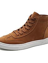 Недорогие -Муж. Комфортная обувь Замша Осень На каждый день Кеды Доказательство износа Черный / Серый / Хаки