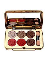 cheap -Makeup 6 Colors Eyeshadow Palette EyeShadow Easy to Carry / lasting Waterproof Daily Makeup / Party Makeup Makeup Cosmetic