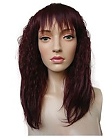 cheap -Synthetic Wig / Cosplay Wig Curly Layered Haircut Synthetic Hair 20 inch Party / Synthetic / New Red Wig Women's Long Capless Red / Natural Hairline