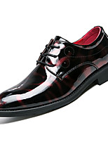 cheap -Men's PU(Polyurethane) Fall Comfort Oxfords Color Block Black / Red