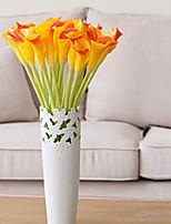 Недорогие -Искусственные Цветы 3 Филиал Классический / Односпальный комплект (Ш 150 x Д 200 см) Стиль / Пастораль Стиль Калла Букеты на стол