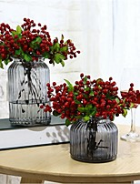 cheap -Artificial Flowers 5 Branch Classic / Single Stylish / Pastoral Style Plants / Fruit Tabletop Flower
