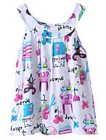economico -Bambino / Bambino (1-4 anni) Da ragazza Cartoni animati Senza maniche Vestito