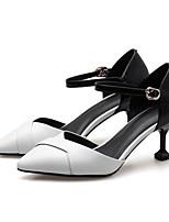 Недорогие -Жен. Комфортная обувь Наппа Leather Лето Обувь на каблуках На шпильке Белый / Красный