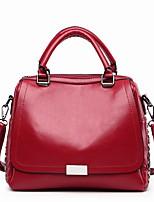 cheap -Women's Bags PU(Polyurethane) Tote Zipper Black / Orange / Red