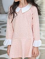 cheap -Kids Girls' Basic Color Block Long Sleeve Dress