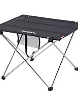 cheap -Camping Table Outdoor Mountaineering, Folding Oxford Cloth, Aluminium alloy for Hiking / Camping - 3 - 4 person Black