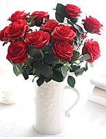 cheap -Artificial Flowers 1 Branch Classic / Single Stylish / Pastoral Style Roses Tabletop Flower