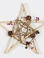 Недорогие -Рождественские украшения Праздник деревянный Квадратный деревянный Рождественские украшения