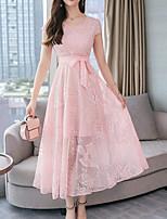 cheap -Women's Basic / Street chic Swing Dress - Floral Lace