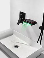 Недорогие -Смеситель для ванны - Современный Живопись На стену Медный клапан