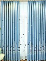 Недорогие -Детские шторы Спальня Геометрический принт Полиэстер / хлопок С принтом