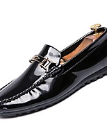 cheap -Men's Moccasin Patent Leather Fall Loafers & Slip-Ons Black