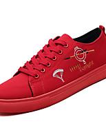 Недорогие -Муж. Полотно Осень Удобная обувь Кеды Лозунг Белый / Черный / Красный