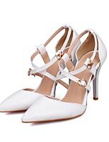 Недорогие -Жен. Балетки Полиуретан Лето Обувь на каблуках На шпильке Белый / Черный / Красный
