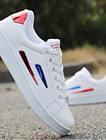 cheap -Men's PU(Polyurethane) Spring & Summer Comfort / Vulcanized Shoes Sneakers Color Block Black / Silver / Blue / Black / Red