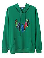 cheap -women's long sleeve hoodie - geometric hooded