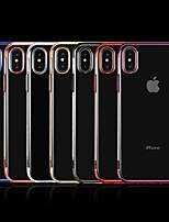 abordables -Coque Pour Apple iPhone X / iPhone 8 Plus Plaqué / Transparente Coque Couleur Pleine Flexible TPU pour iPhone X / iPhone 8 Plus / iPhone 8