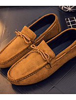 cheap -Men's Comfort Shoes PU(Polyurethane) Spring & Summer Casual Loafers & Slip-Ons Black / Camel / Khaki