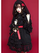 economico -Gotico Dolce Punk & Gotico Chiffon Per femmina Cosplay Bianco / Nero Senza maniche Costumi Halloween