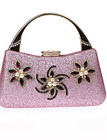 cheap -Women's Bags PU(Polyurethane) Evening Bag Crystals Black / Silver / Blushing Pink