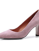 Недорогие -Жен. Обувь Замша Весна Удобная обувь Обувь на каблуках На шпильке Черный / Розовый