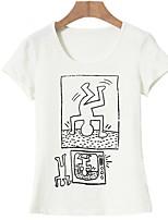 baratos -Mulheres Camiseta Básico Estampado, Geométrica