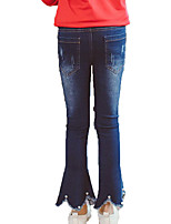 cheap -Kids Girls' Basic / Street chic Sports Print Beaded / Hole Cotton Jeans