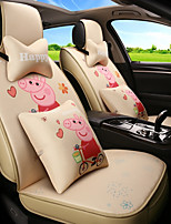 cheap -ODEER Car Seat Covers Seat Covers Beige Textile Cartoon / Common For universal All years All Models