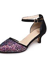 Недорогие -Жен. Деним Лето Туфли лодочки Обувь на каблуках На шпильке Лиловый