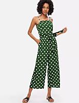 cheap -Women's Holiday Jumpsuit - Polka Dot, Print Strap / Summer