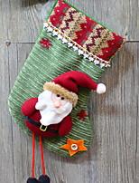 economico -Calze Vacanza / Cartone animato Stoffa (cotone) Quadrato Originale Decorazione natalizia