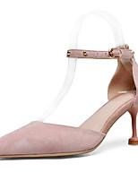 Недорогие -Жен. Обувь Замша Весна Удобная обувь Обувь на каблуках На шпильке Черный / Розовый / Миндальный