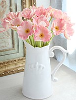 Недорогие -Искусственные Цветы 8.0 Филиал Классический / Односпальный комплект (Ш 150 x Д 200 см) Стиль / Пастораль Стиль мак Букеты на стол