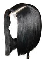 Недорогие -Натуральные волосы Лента спереди Парик Бразильские волосы / Бирманские волосы Kinky Curly Парик 130% Женский / Легко туалетный / Лучшее качество Нейтральный Жен. Длинные
