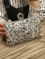 cheap -Women's Bags PU(Polyurethane) Clutch Sequin Gold / Black / Silver