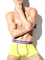 cheap -Men's Boxers Underwear Solid Colored / Color Block / Letter Mid Waist