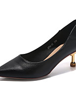 Недорогие -Жен. Балетки Полиуретан Осень Обувь на каблуках На шпильке Заостренный носок Черный / Серый / Для вечеринки / ужина