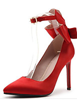 cheap -Women's Shoes Satin Spring &  Fall Comfort / Basic Pump Wedding Shoes Stiletto Heel Black / Red