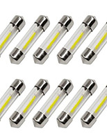 cheap -10pcs 36mm Car Light Bulbs 1 W COB 80 lm 1 LED Turn Signal Light / Interior Lights For universal