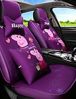 Недорогие -ODEER Чехлы на автокресла Чехлы для сидений Лиловый текстильный Мультяшная тематика / Общий Назначение Универсальный Все года Все модели